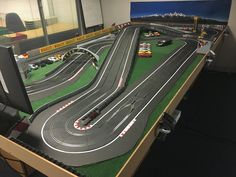 My Track - Scalextric Digital Track Designs Slot Car Race Track, Ho Slot Cars, Slot Car Racing, Slot Car Tracks, Scalextric Digital, Scalextric Track, Carrera Slot Cars, Car Table, Mercedes Benz