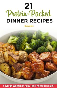 Whether you're on a low-carb diet or just looking to curb your cravings, these protein-packed dinner recipes are the best way to create a delicious and balanced dinner. #highprotein #lowcarb #dinnerrecipes #skinnyms
