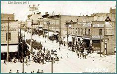 Elm street in 1915 Sudbury, Ontario Sudbury Canada, Elm Street, Old Photos, Ontario, Tourism, Street View, Military, City, Instagram Posts
