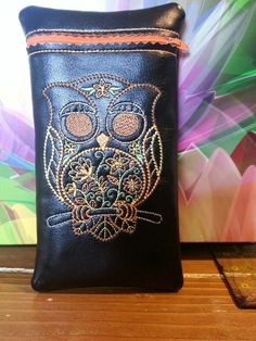 Custom owl glass pipe pouch by RedNeckRagsCreations on Etsy, $15.00