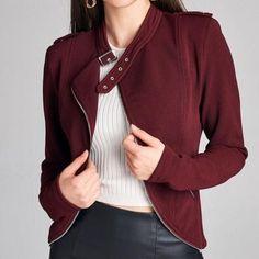 Zippered Designed Cropped Jacket