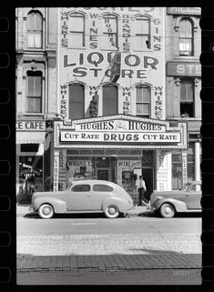 September 1939: Liquor Store in the lost Gateway District in Downtown Minneapolis.