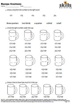 measuring cups madness math pinterest measuring cup worksheets and madness. Black Bedroom Furniture Sets. Home Design Ideas