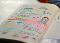This girl's bullet journal is adorable--shows how it can be part scrapbook/art book if that's your thing.