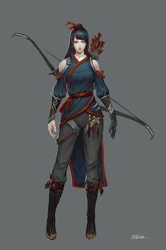 ArtStation - Female archer, Danfeng Ge