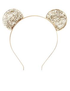 Glitter Mouse Ears Headband: Charlotte Russe.. I need these for Disneyland