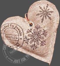 Hartediefje Snowflake -- heart ornament
