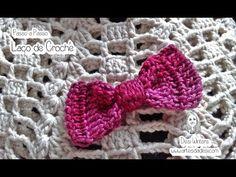 Artes da Desi: Passo a passo Laço de Crochê