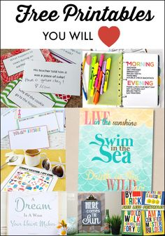 Free Printables You Will Love
