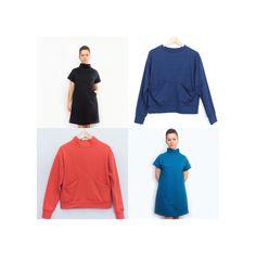 Sewing Pattern bundle, Maxine Dress + Maxine Sweater pattern, dressmaking, dress, sweater, fashion, digital sewing pattern, PDF pattern, DIY Knitted Fabric, Woven Fabric, Pdf Sewing Patterns, Long Sweaters, Dressmaking, Stretch Fabric, Hoodies, Knitting, Stylish