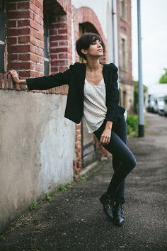 Veste Vanessa Bruno pour La Redoute  Top Cozete  Slim Asos   Bottines Uterque (ancienne collection)