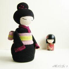 Miya la petite japonaise d'entrecrochet. www.entrecrochet.com