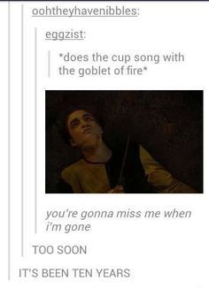 """When someone made this (too soon) Pitch Perfect reference. 