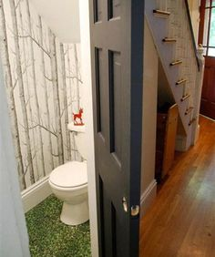 this is a cute idea but I would not want a carpeted floor in that small space-too hard to keep clean