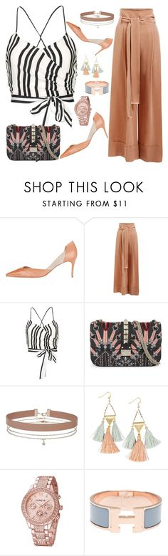"""FSJ stylish pumps for office lady"" by fsjamazon ❤ liked on Polyvore featuring Ginger & Smart, Alice + Olivia, Valentino, Miss Selfridge, NAKAMOL and Hermès"
