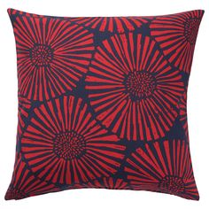 IKEA - STJÄRNTULPAN, Cushion cover, dark blue, red, Cotton is a soft and easy-care natural material that you can machine wash. The zipper makes the cover easy to remove. Sofa Pillow Covers, Sofa Pillows, Cushion Covers, Throw Pillows, Cushions Ikea, Ikea Bank, Red And Blue, Dark Blue, Packaging