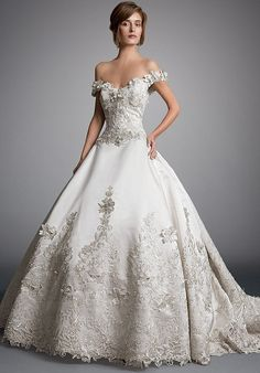 Cheap vestidos de novia, Buy Quality puffy wedding dress directly from China wedding dress 2016 Suppliers: Off the Shoulder Sweetheart Glamorous Appliqued Flower Beaded Puffy Wedding Dresses 2016 casamento vestidos de novia Eve Of Milady Wedding Dresses, Puffy Wedding Dresses, Bridal Skirts, 2016 Wedding Dresses, Wedding Dress Trends, Princess Wedding Dresses, Bridal Gowns, Wedding Gowns, Dresses 2016