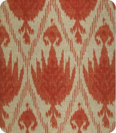 Geranium Red and Oatmeal Curtain Panel / Custom by StitchandBrush, $270.00
