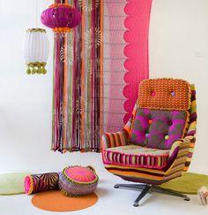 Deryn Relph colourful textile | Interior Design and Home Decor