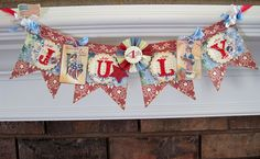 Lori Hairston: Red, White & Blue Banner for Craft Us Crazy Patriotic Crafts, Patriotic Party, July Crafts, Summer Crafts, Holiday Crafts, Patriotic Bunting, Holiday Decor, Fourth Of July Decor, 4th Of July Celebration