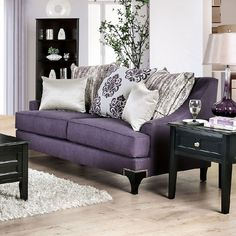 48 Cute Purple Living Room Design You Will Totally Love. The Living Room style and colour choices are inevitably dictated by size, use and environment and this particularly relevant when hot colours i. Living Room Grey, Living Room Sets, Living Room Designs, Living Room Decor, Purple Furniture, Home Furniture, Modern Furniture, Antique Furniture, Rustic Furniture