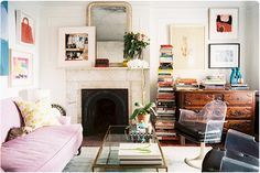 Great mix of cozy and light. {Mary Nelson Sinclair's apt, c/o Lonny Magazine, via amourette}