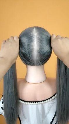 Hairdo For Long Hair, Easy Hairstyles For Long Hair, Braids Long Hair, Short Wavy Haircuts, Popular Short Hairstyles, Braided Hairstyles, Front Hair Styles, Medium Hair Styles, Hair Style Vedio