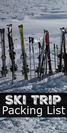 Not sure what to pack for a ski trip? Don't be stuck without all of the skiing essentials that you need for your next ski trip. Get our printable ski trip packing list!