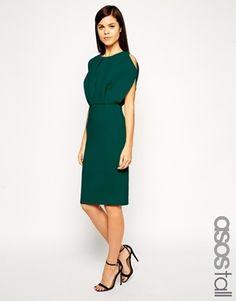 ASOS TALL Premium Cold Shoulder Pencil Dress
