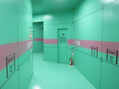 Evangelion World at the Fuji-Q Highland amusement park in Yamanashi Prefecture  #pink #green - Carefully selected by GORGONIA www.gorgonia.it