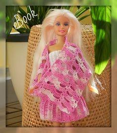 Pañuelo de falda superior establecido para el patrón de ganchillo Barbie