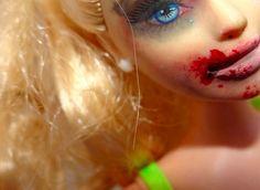 Bruised Doll Art Projects - Samantha Humphreys' Barbie Doll Art Series Addresses Adult Topics (GALLERY)