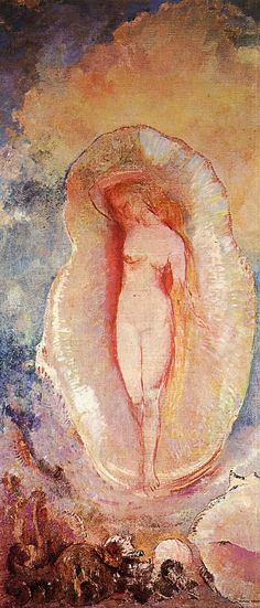 Odilon Redon. I stared and stared at this image in my art history book in college, around 1970. I fell in love with him, although we never talked about him. His work is so visionary, so stunning. THANK you Tomas Ribas for curating this board!