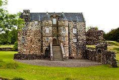 Ancient & Medieval History — Rowallan Castle, Scotland This grand Renaissance. Scotland Castles, Scottish Castles, Castle Ruins, Medieval Castle, Dumfries House, England Ireland, Aerial Images, Ancient Buildings, Abandoned Homes