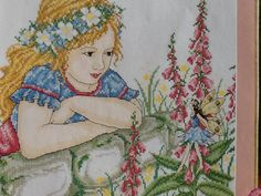 G - GIRL AND FAIRY - cross stitch pattern only