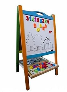 0f5d15e7ecf7c4 kids playroom decor Elk & Bear Double Sided Magnetic Whiteboard Painting  Easel for Small Kids and Toddlers