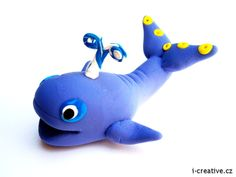 Whale from modeling clay / Velryba ze samotvrdnoucí modelovací hmoty Koh-i-noor