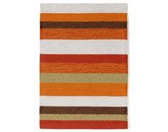 Stripe Orange Indoor-Outdoor Rug