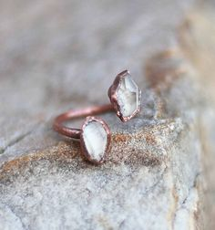 Herkimer Diamond Ring by Amanda Leilani Designs