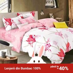 Lenjerie de pat din bumbac Valentini Bianco TB010/54 Comforters, Blanket, Bed, Creature Comforts, Quilts, Stream Bed, Rug, Blankets, Beds