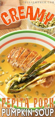 Recipes Using Pork, Best Soup Recipes, Delicious Dinner Recipes, Recipe Using, Fall Recipes, Real Food Recipes, Favorite Recipes, Creamy Pumpkin Soup, Good Food