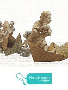 Glückwunschkarte Papierschiff, Papier Schiff Karte, Umschlag aus Buchseiten, Karte für Leseratten, upcycling Umschlag, Karte für Leseratten von der Atelier Dorothea Koch https://www.amazon.de/dp/B01M0HTRMN/ref=hnd_sw_r_pi_dp_fl45xbHPRNGNH #handmadeatamazon