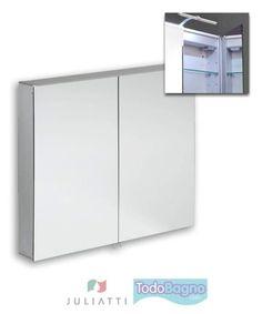 Camerino - Espejo de baño de la marca italiana Juliatti al 50% de descuento. Aprovecha nuestras Ofertas. Sensor SWITCH SENSOR SYSTEM ( se enciende y se apaga al pasar la mano cerca del sensor). Alta calidad y diseño. http://www.todobagno.com/comprar-espejos-juliatti-online