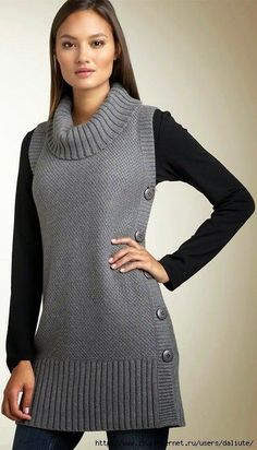 17 Ideas Crochet Poncho Cardigan Inspiration For 2019 Crochet Poncho, Knit Crochet, Patron Crochet, Knit Vest, Tunic Sweater, Knit Cowl, Elegant Outfit, Crochet Clothes, Baby Knitting