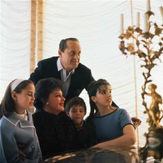 Judy Garland shares some family time with her third husband Sid Luft and their children Lorna, Joey and Liza Minnelli.