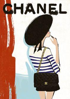 LOVE 2.55 Chanel Print Chanel Poster Fashion by BigFashionBook