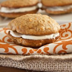 inside out carrot cake cookies- SO good, but minus the cream cheese filling. I'd use vanilla!