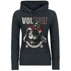 """Felpa donna """"Boxer Ribbon"""" dei #Volbeat."""