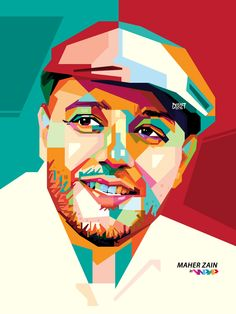 Daily Inspiration  Maher Zain Pop Art Portraits Illustrations Posters Print Design
