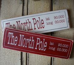 The North Pole Latitude Longitude Sign - Perfect for Christmas